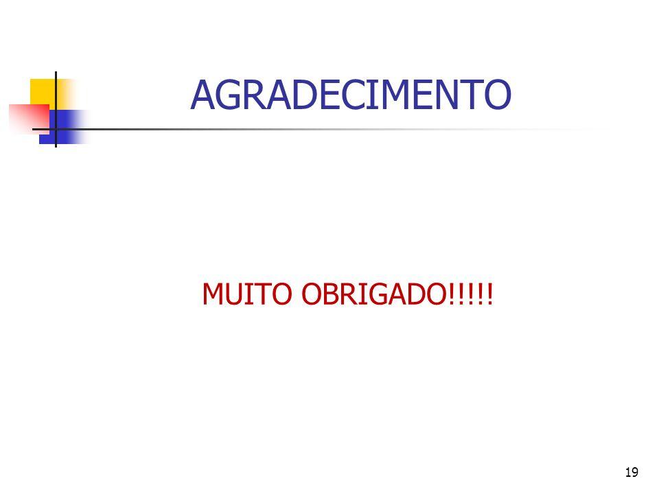 AGRADECIMENTO MUITO OBRIGADO!!!!!