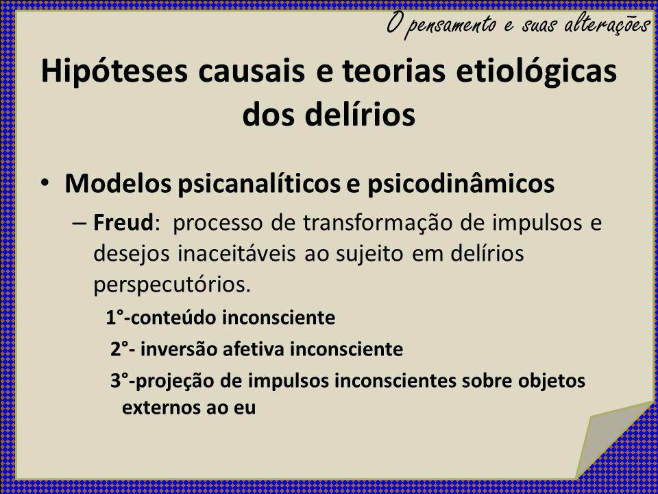 Hipóteses causais e teorias etiológicas dos delírios
