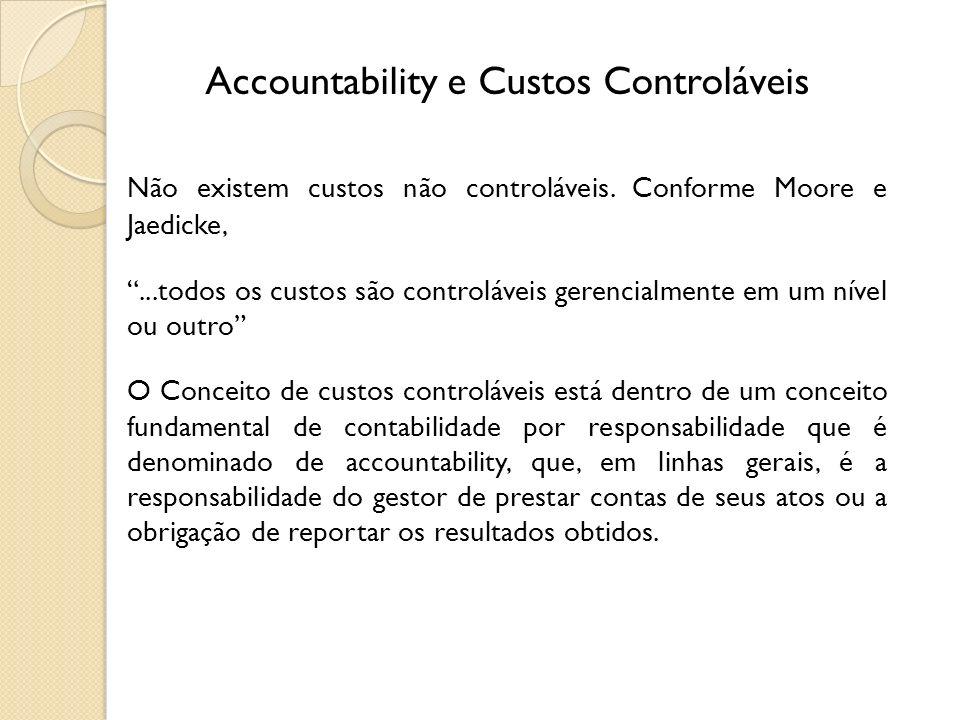 Accountability e Custos Controláveis