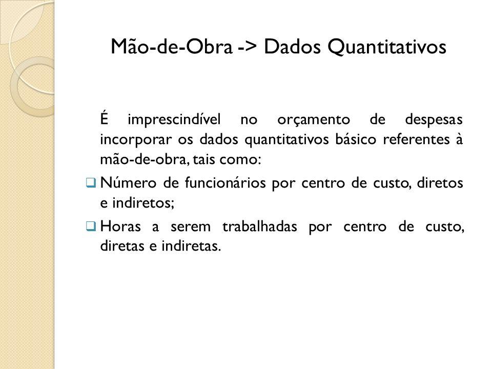 Mão-de-Obra -> Dados Quantitativos