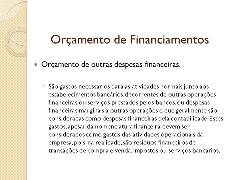 Orçamento de Financiamentos