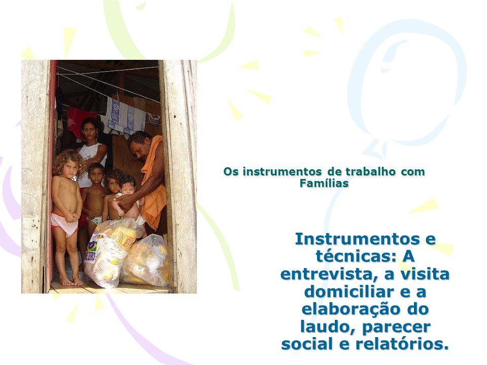 Os instrumentos de trabalho com Famílias