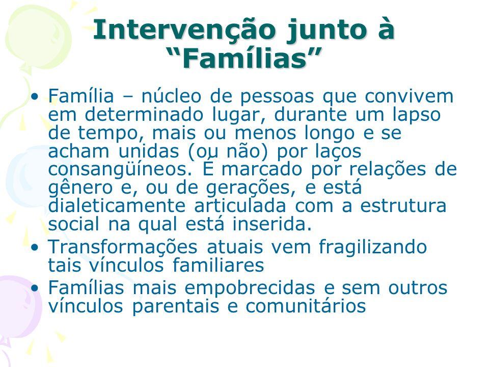 Intervenção junto à Famílias