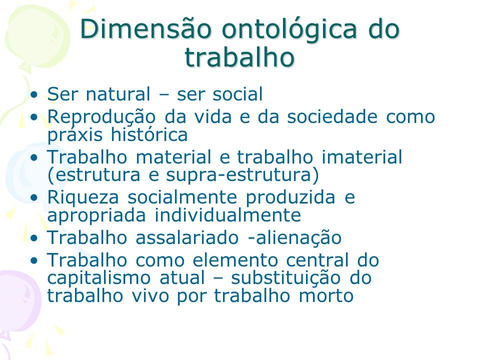 Dimensão ontológica do trabalho