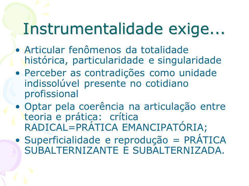 Instrumentalidade exige...