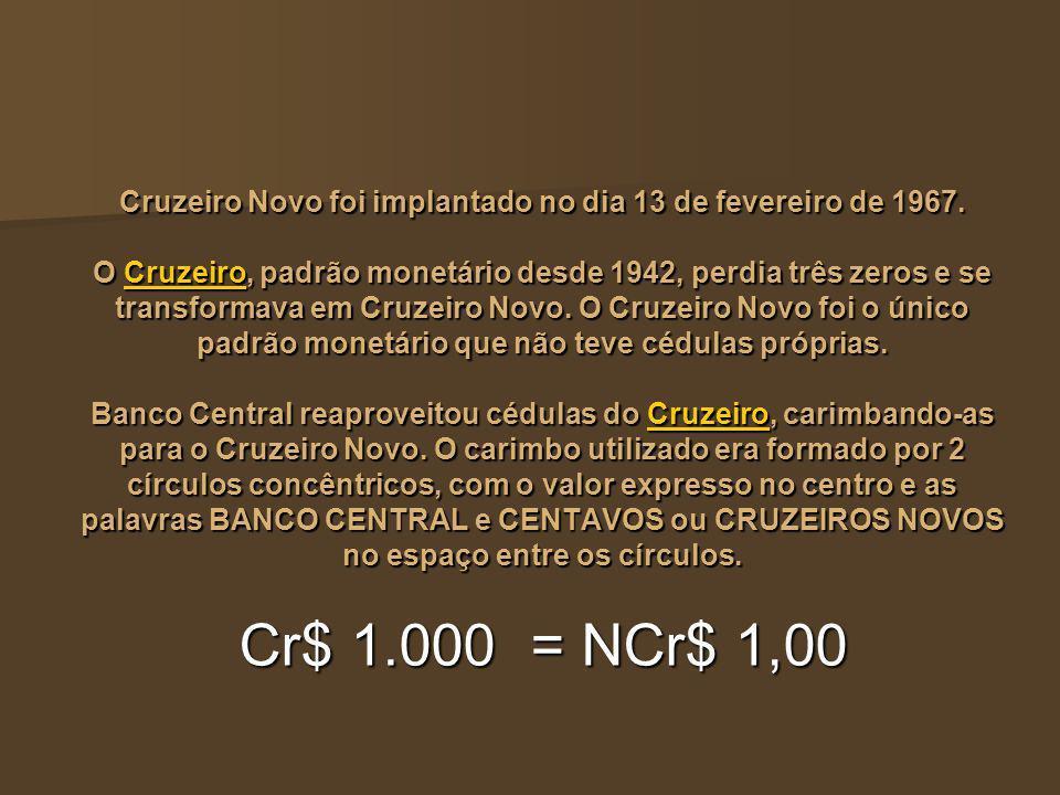Cruzeiro Novo foi implantado no dia 13 de fevereiro de 1967