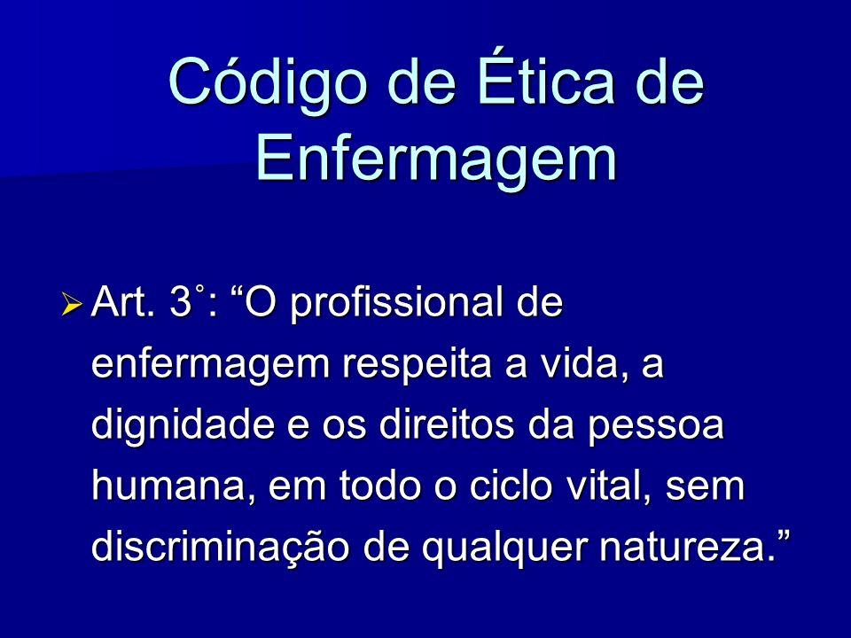 Código de Ética de Enfermagem