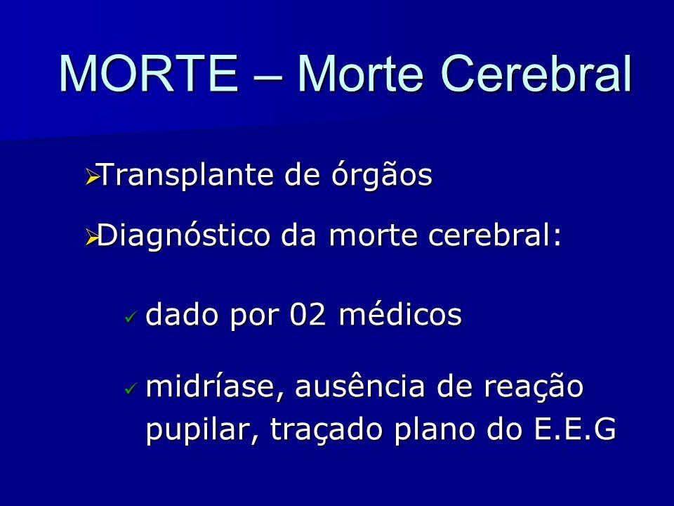 MORTE – Morte Cerebral Transplante de órgãos