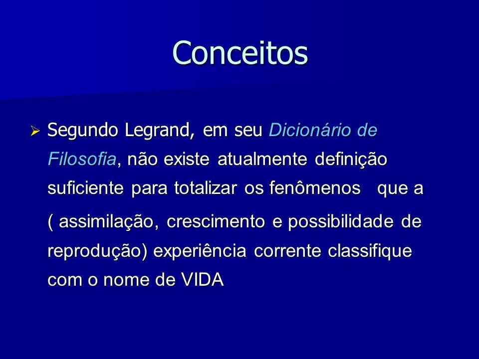 ConceitosSegundo Legrand, em seu Dicionário de Filosofia, não existe atualmente definição suficiente para totalizar os fenômenos que a.