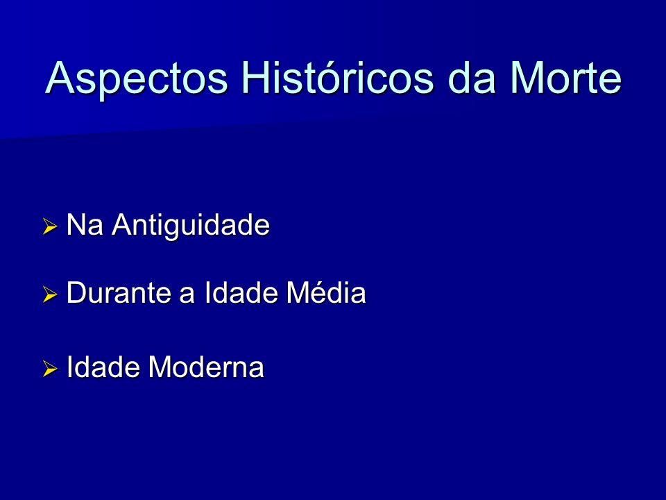 Aspectos Históricos da Morte