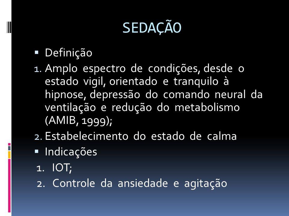 SEDAÇÃO Definição.