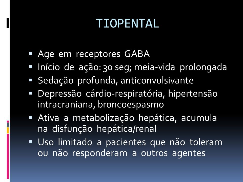 TIOPENTAL Age em receptores GABA