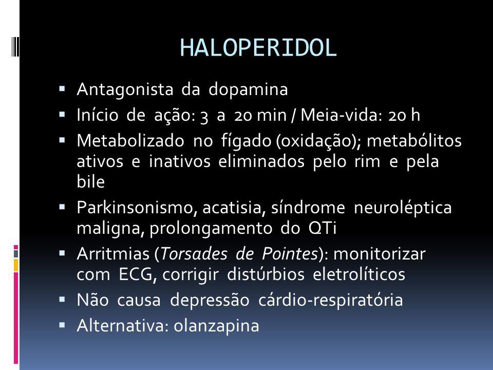 HALOPERIDOL Antagonista da dopamina