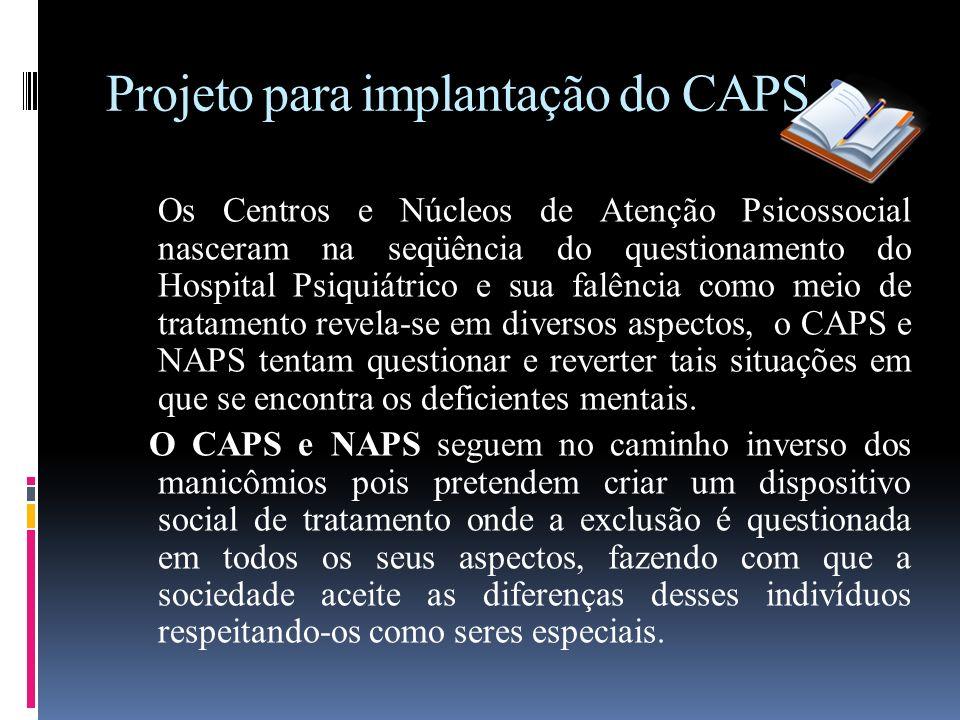 Projeto para implantação do CAPS