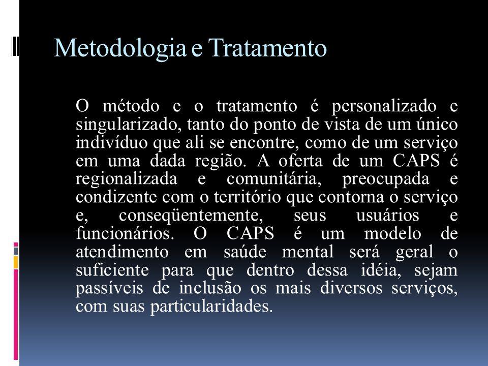 Metodologia e Tratamento