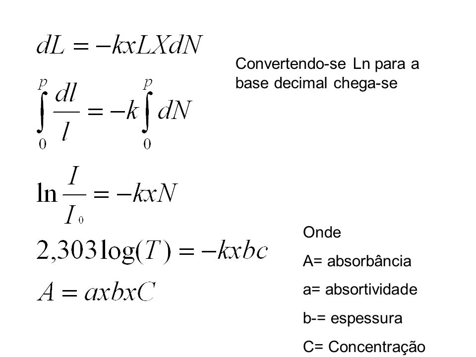 Convertendo-se Ln para a base decimal chega-se