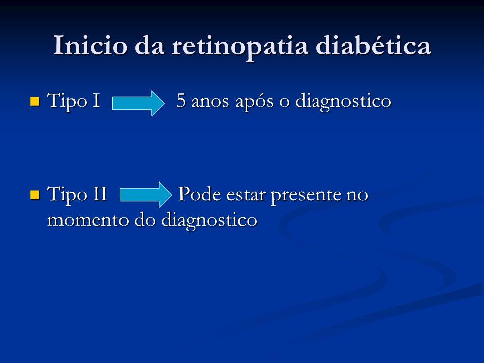 Inicio da retinopatia diabética