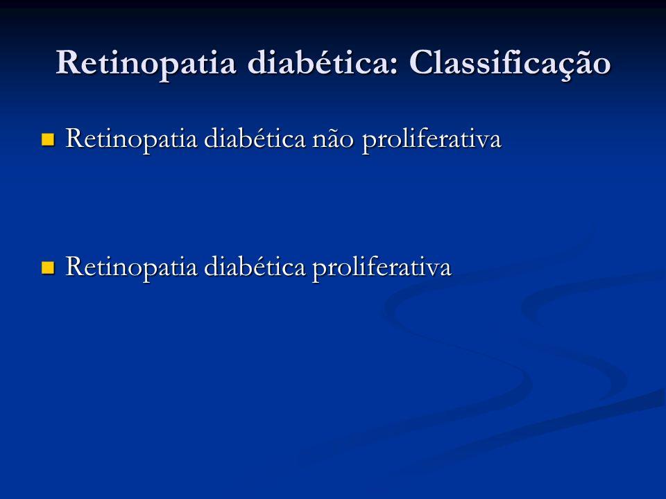 Retinopatia diabética: Classificação