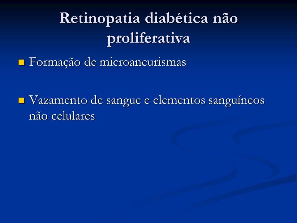 Retinopatia diabética não proliferativa