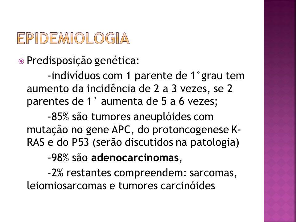 Epidemiologia Predisposição genética: