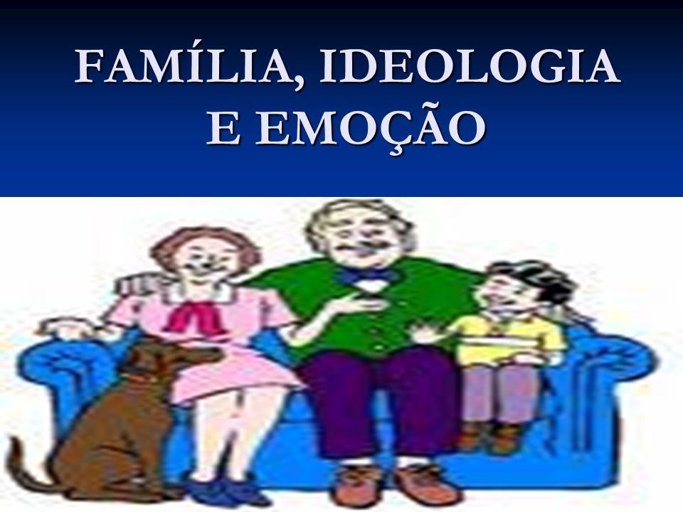 FAMÍLIA, IDEOLOGIA E EMOÇÃO