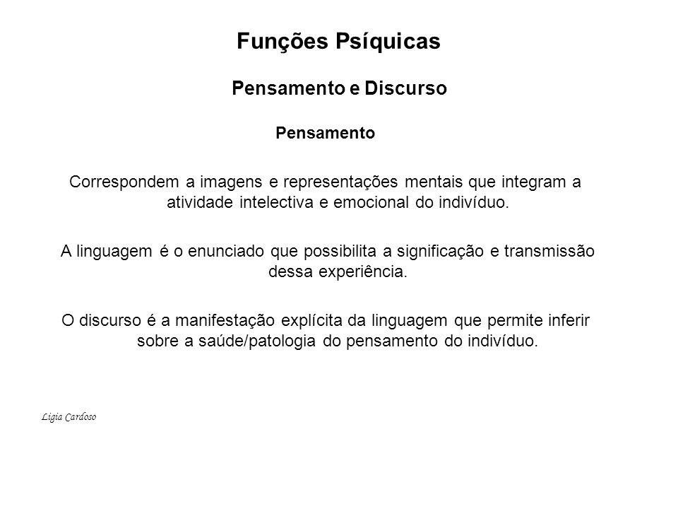 Funções Psíquicas Pensamento e Discurso
