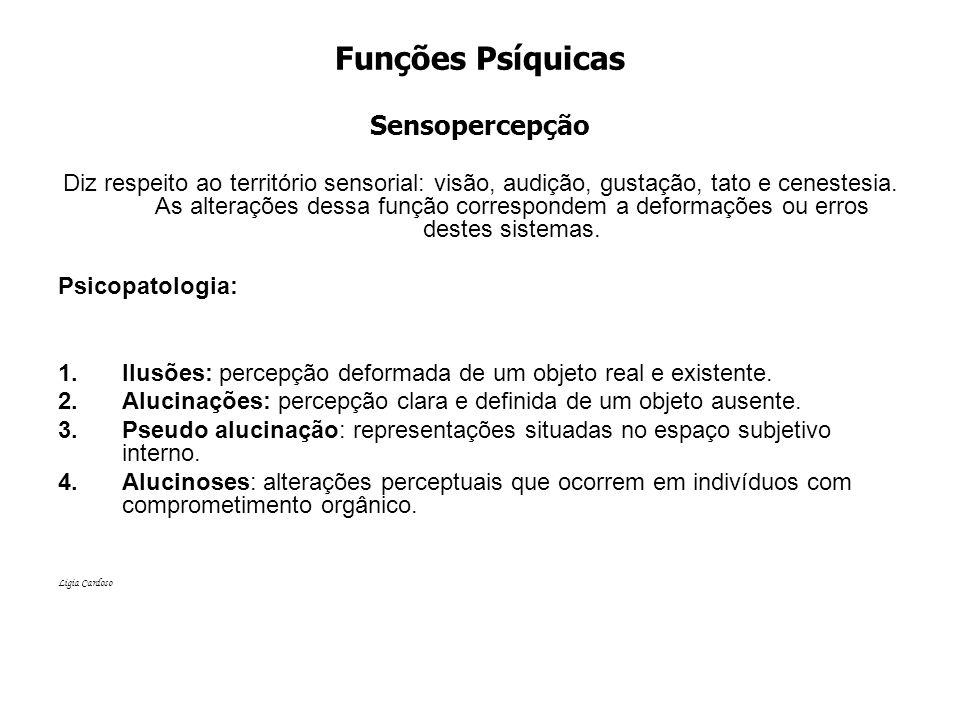 Funções Psíquicas Sensopercepção