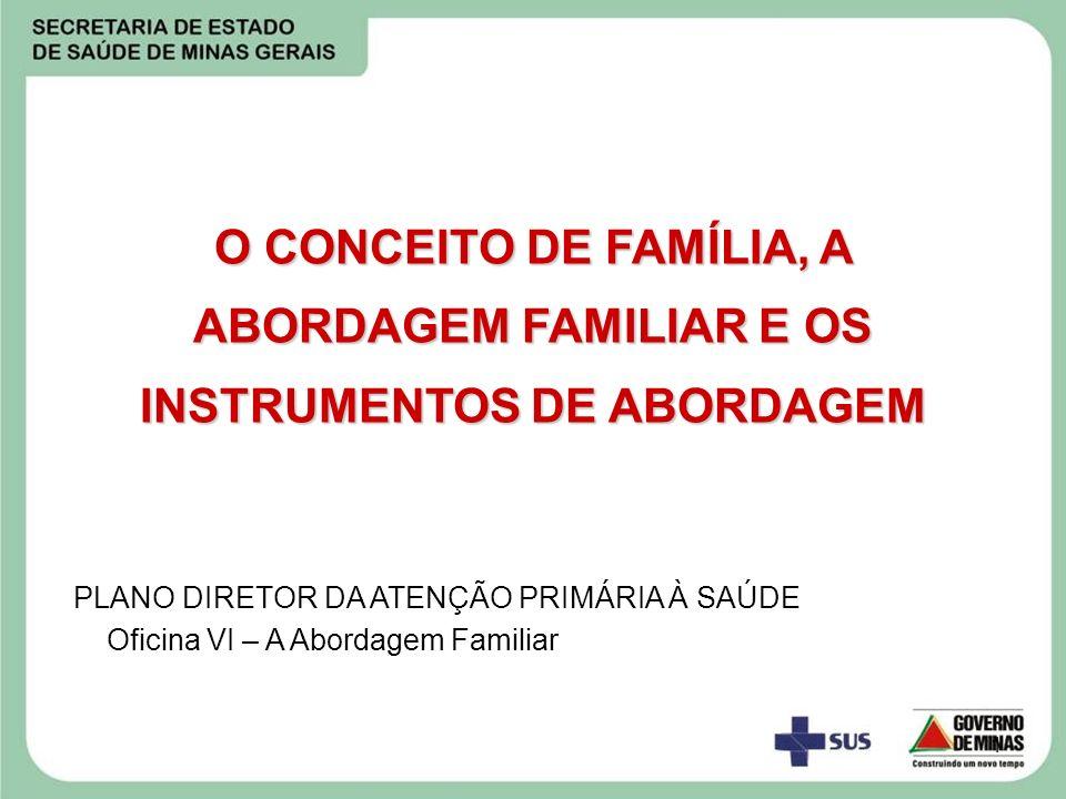 O CONCEITO DE FAMÍLIA, A ABORDAGEM FAMILIAR E OS INSTRUMENTOS DE ABORDAGEM