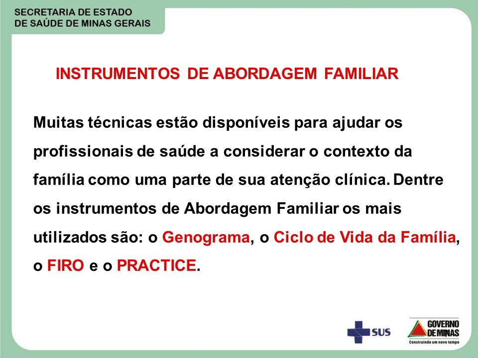INSTRUMENTOS DE ABORDAGEM FAMILIAR