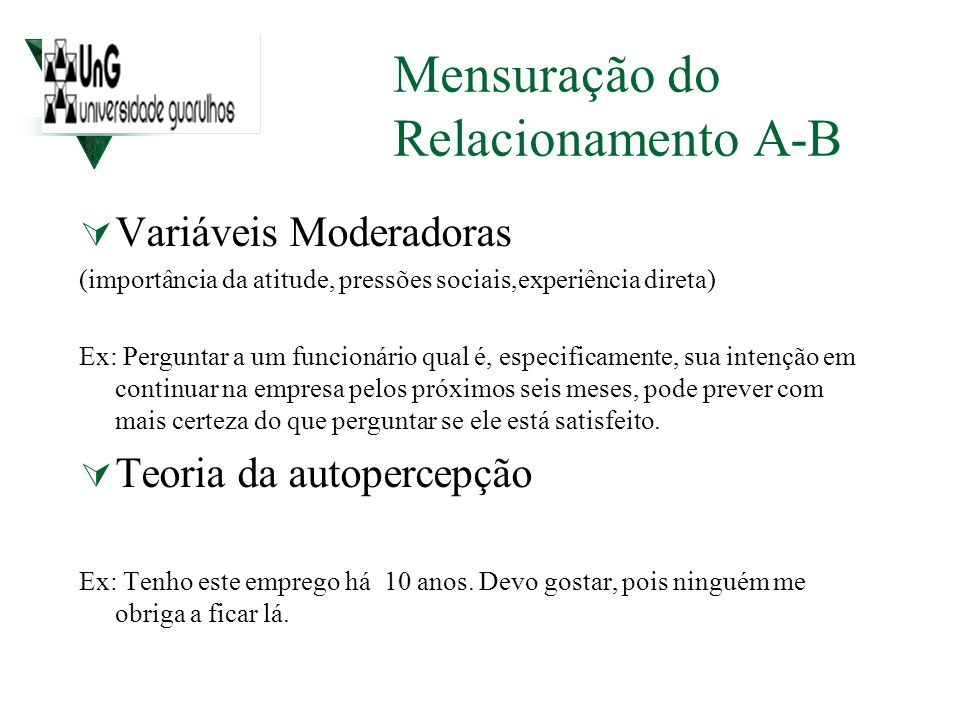 Mensuração do Relacionamento A-B