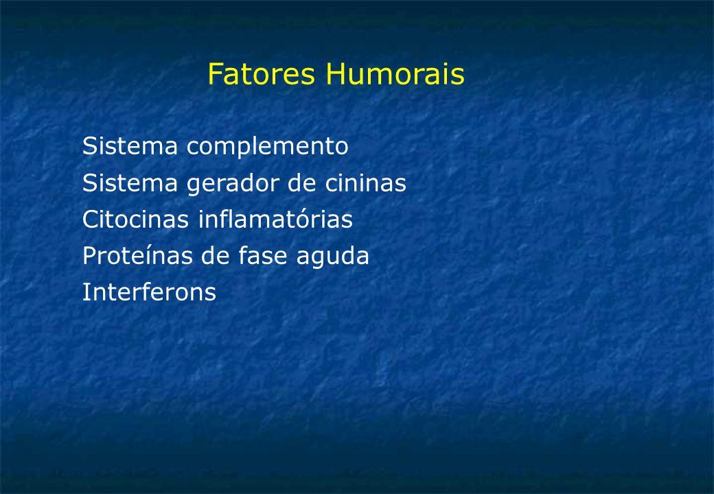 Fatores Humorais Sistema complemento Sistema gerador de cininas