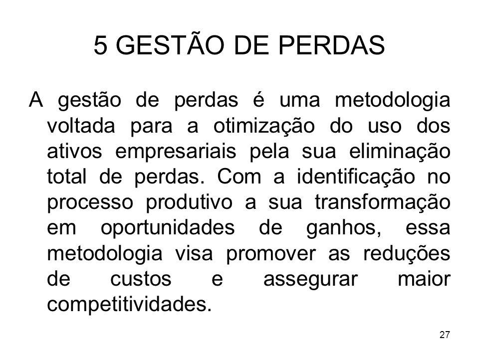 5 GESTÃO DE PERDAS
