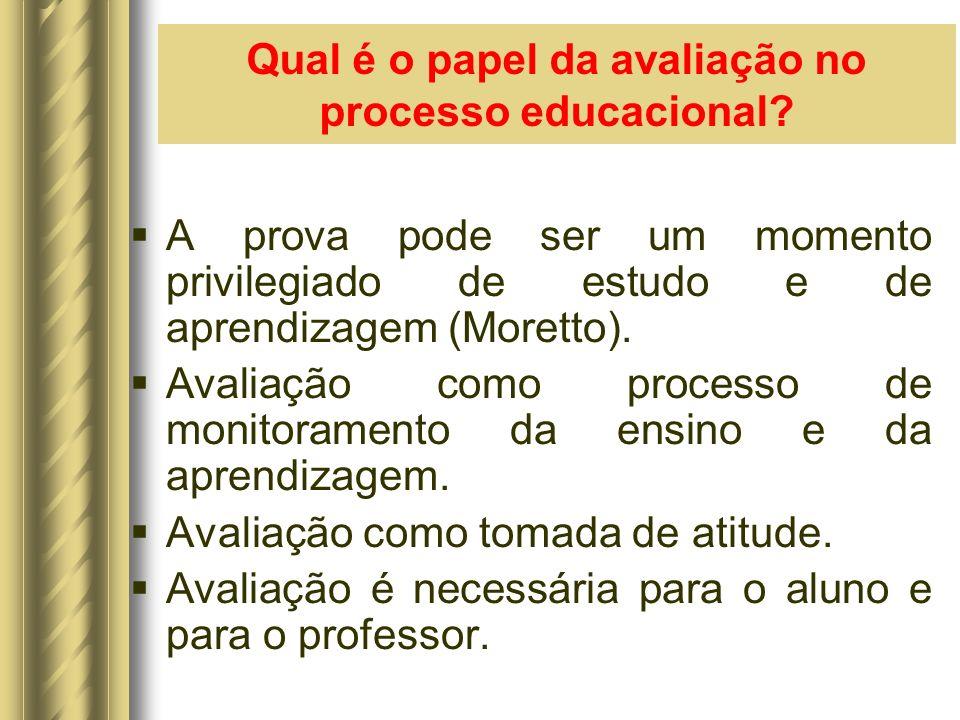 Qual é o papel da avaliação no processo educacional