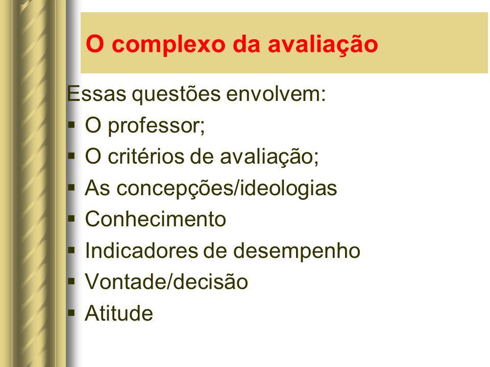 O complexo da avaliação