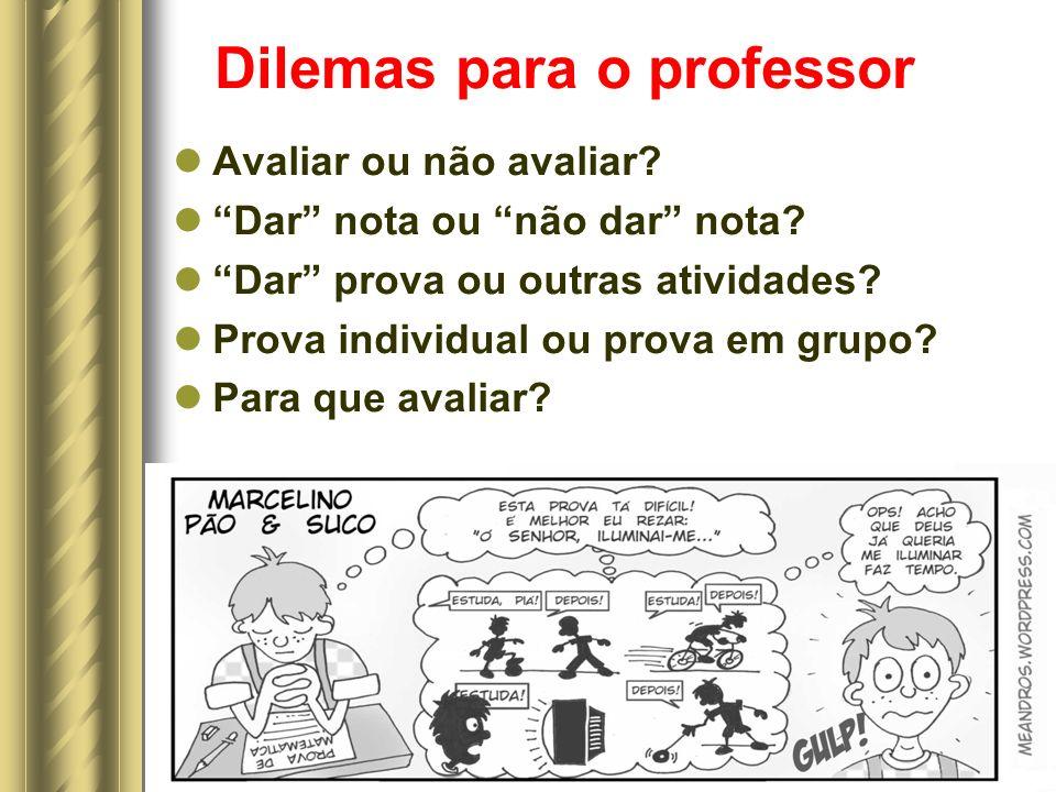 Dilemas para o professor