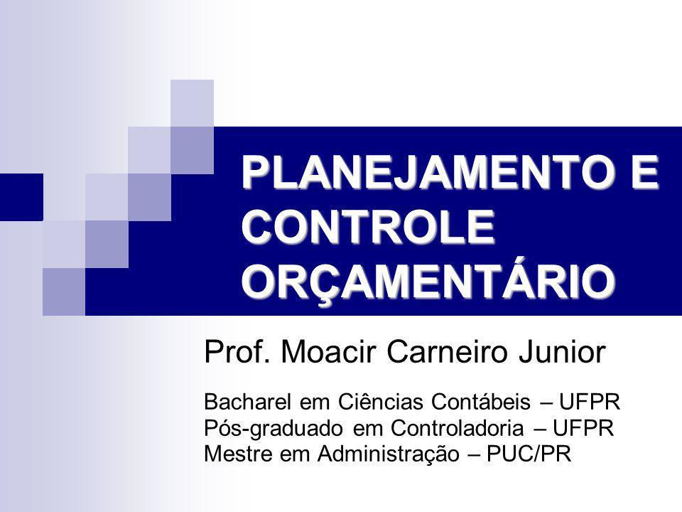 PLANEJAMENTO E CONTROLE ORÇAMENTÁRIO