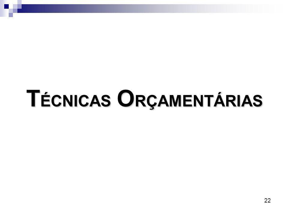 TÉCNICAS ORÇAMENTÁRIAS