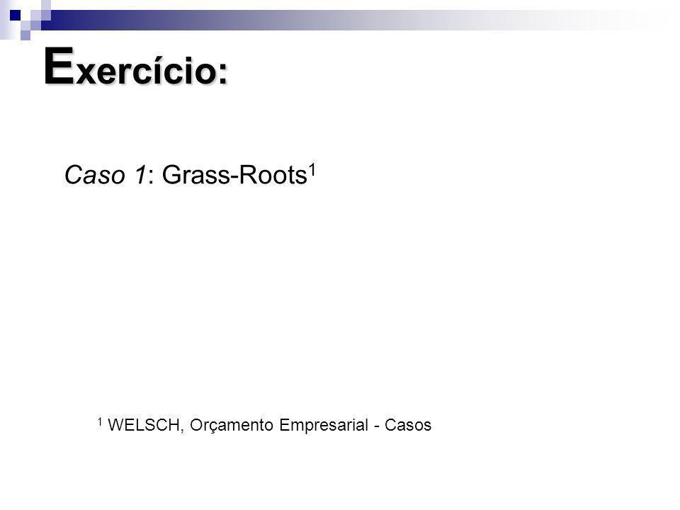 Exercício: Caso 1: Grass-Roots1
