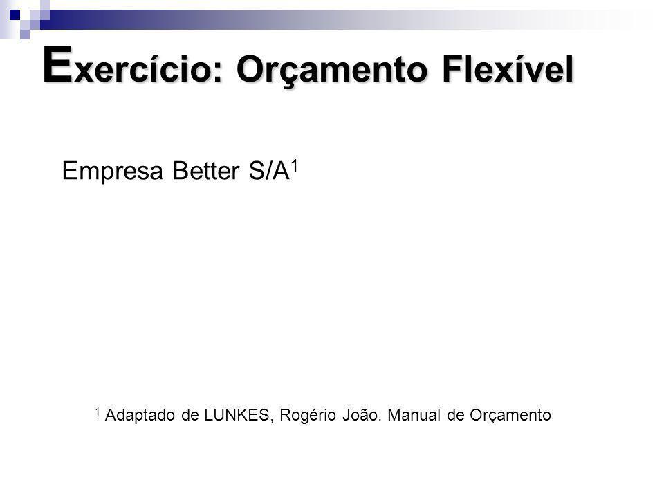 Exercício: Orçamento Flexível