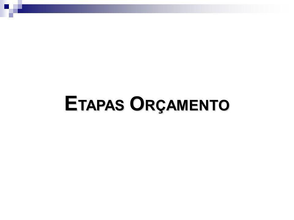 ETAPAS ORÇAMENTO