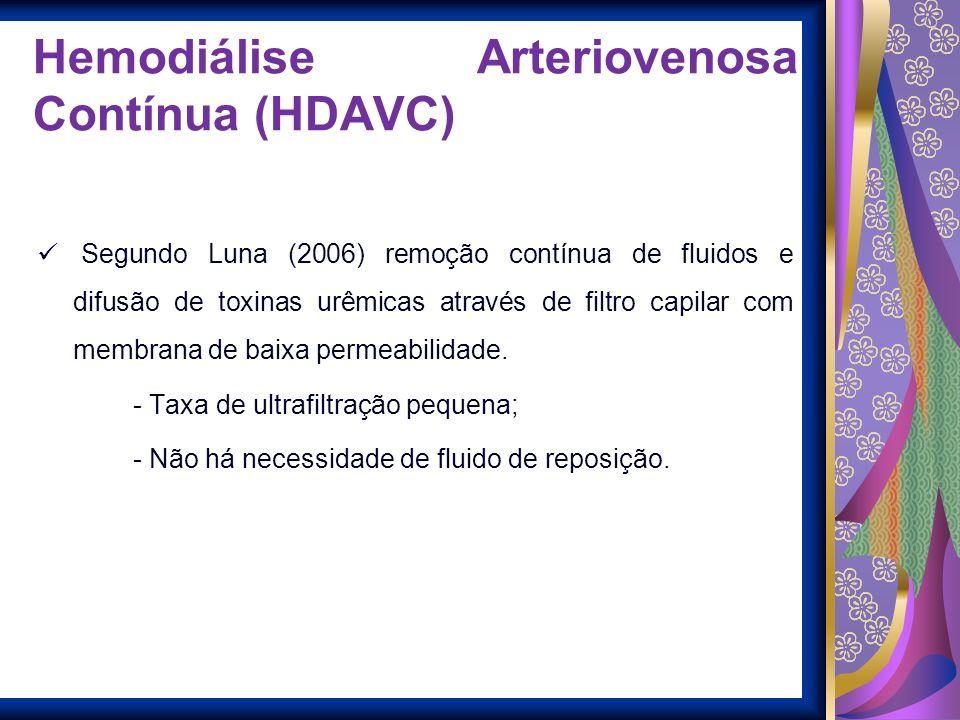 Hemodiálise Arteriovenosa Contínua (HDAVC)