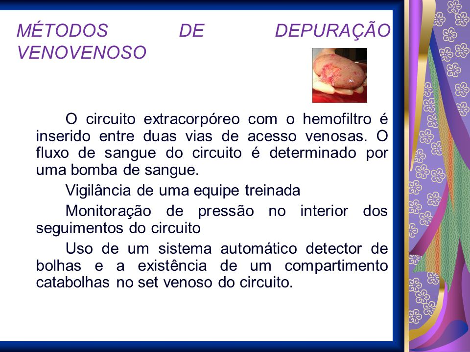 MÉTODOS DE DEPURAÇÃO VENOVENOSO