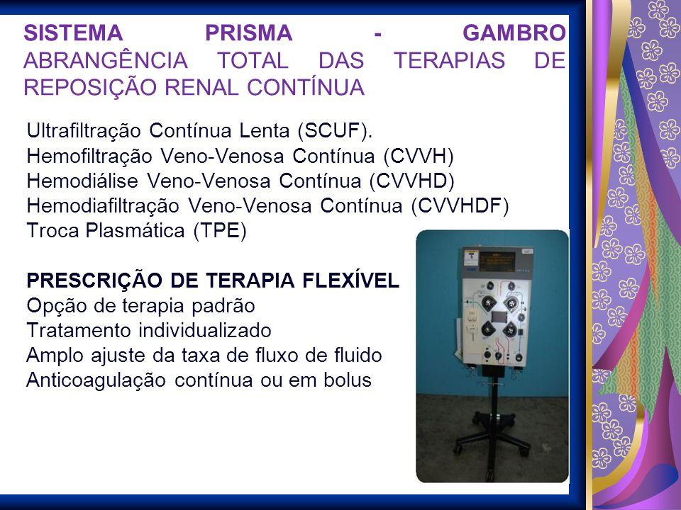 SISTEMA PRISMA - GAMBRO ABRANGÊNCIA TOTAL DAS TERAPIAS DE REPOSIÇÃO RENAL CONTÍNUA