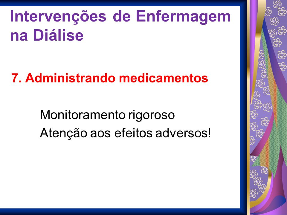 Intervenções de Enfermagem na Diálise