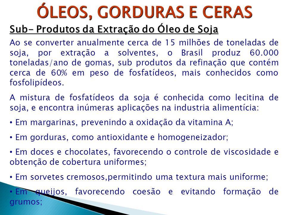ÓLEOS, GORDURAS E CERAS Sub- Produtos da Extração do Óleo de Soja