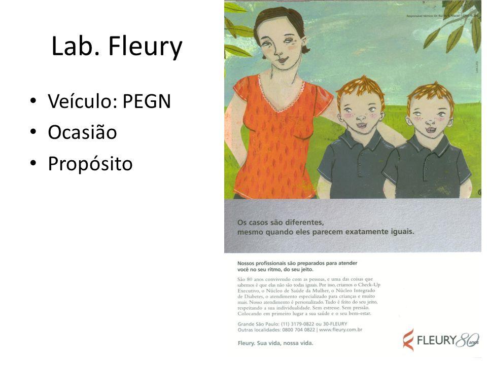Lab. Fleury Veículo: PEGN Ocasião Propósito
