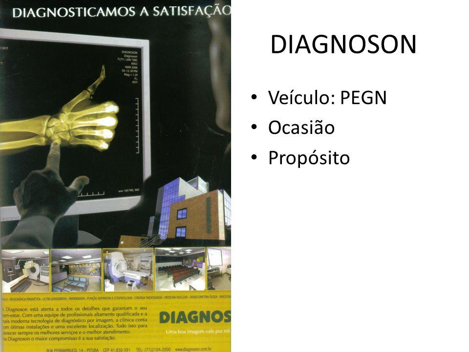 DIAGNOSON Veículo: PEGN Ocasião Propósito
