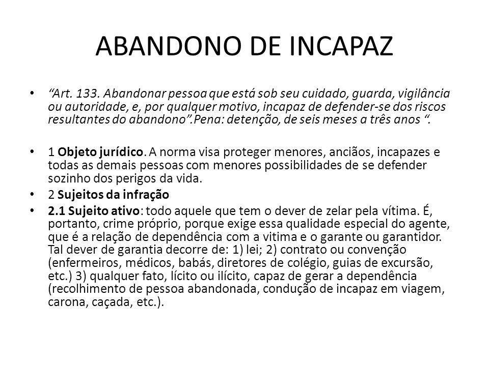 ABANDONO DE INCAPAZ