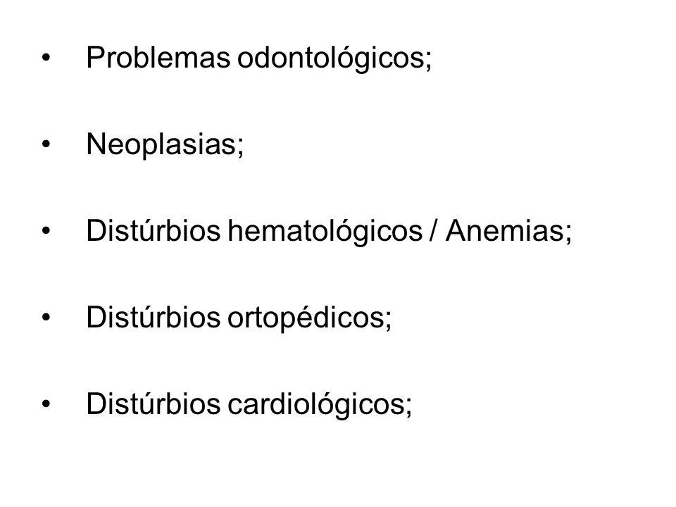 Problemas odontológicos;