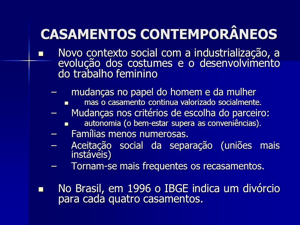 CASAMENTOS CONTEMPORÂNEOS